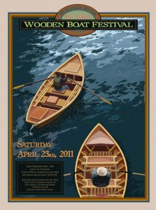2011 McKenzie River Wooden Boat Festival poster